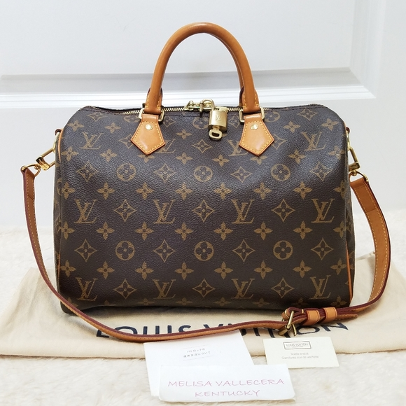 💕Authentic LV Speedy 30 Bandouliere w/ Strap